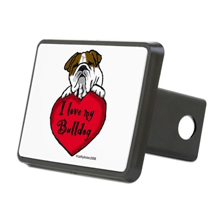 Bulldogheart.png Rectangular Hitch Cover
