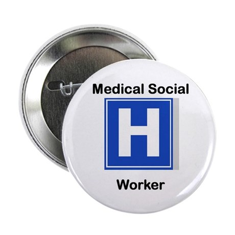 Medical Social Worker Button