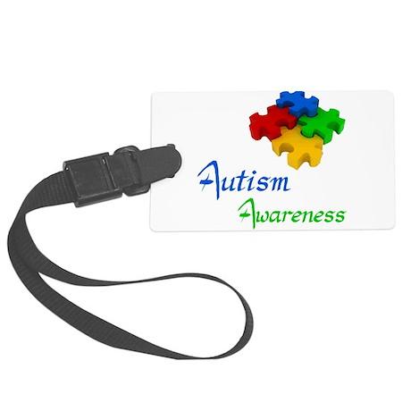 Autism Awareness Large Luggage Tag