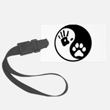 Human & Dog Yin Yang Luggage Tag