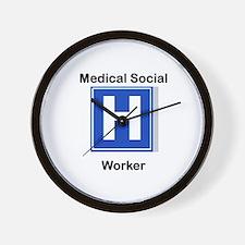 Medical Social Worker Wall Clock