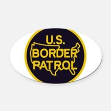 Border Patrol Oval Car Magnet