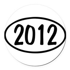 2012 Oval Round Car Magnet