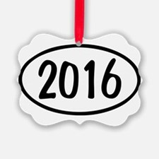 2016 Oval Ornament