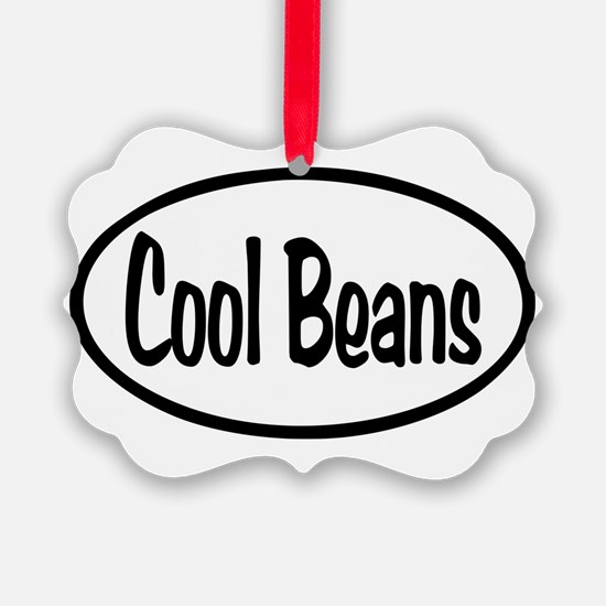 Cool Beans Oval Ornament
