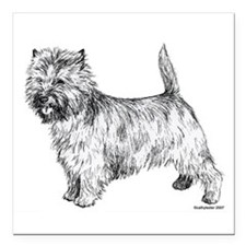 "Cairn_Terrier 2.png Square Car Magnet 3"" x 3"""