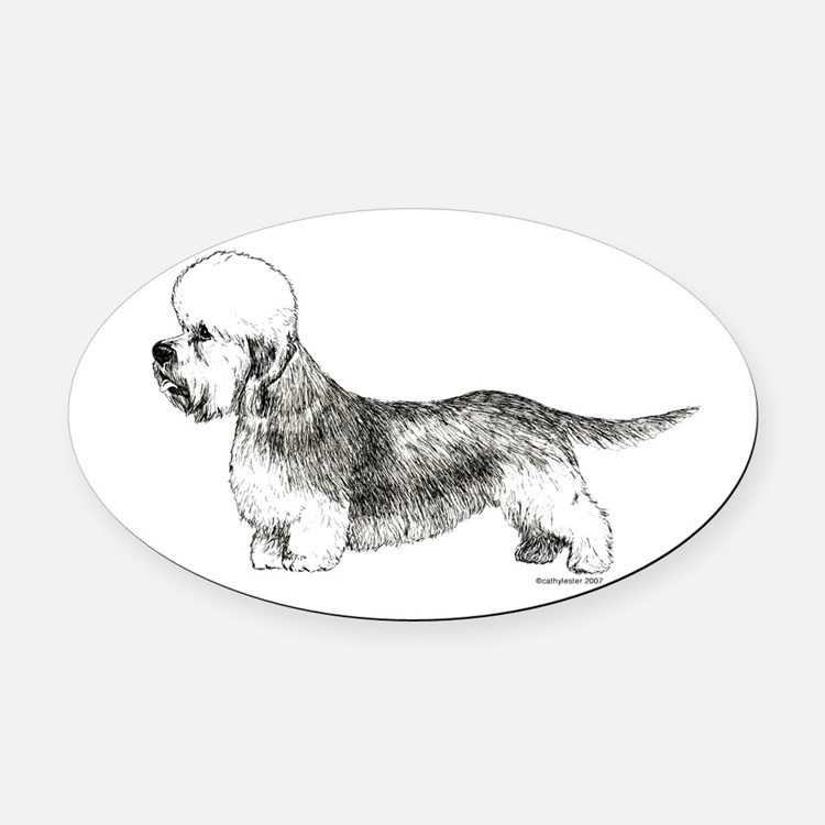 DandieDinmont.png Oval Car Magnet