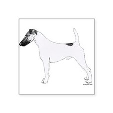 "3-Fox_Terrier_Smooth.png Square Sticker 3"" x 3"""
