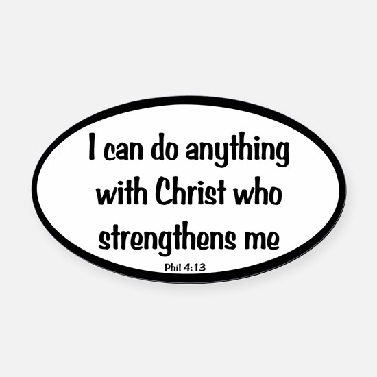 I can do anything Oval Oval Car Magnet