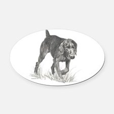GermanWireHair.png Oval Car Magnet
