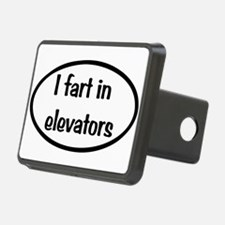 iFart in Elevators Oval Hitch Cover