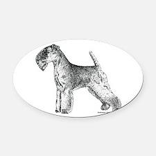 Lakeland_Terrier2.png Oval Car Magnet