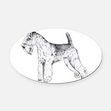 Lake_Terrier.png Oval Car Magnet