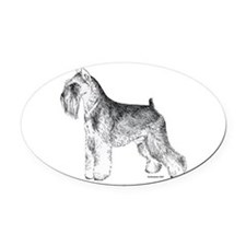 Miniature_Schnauser_Terrier020.png Oval Car Magnet