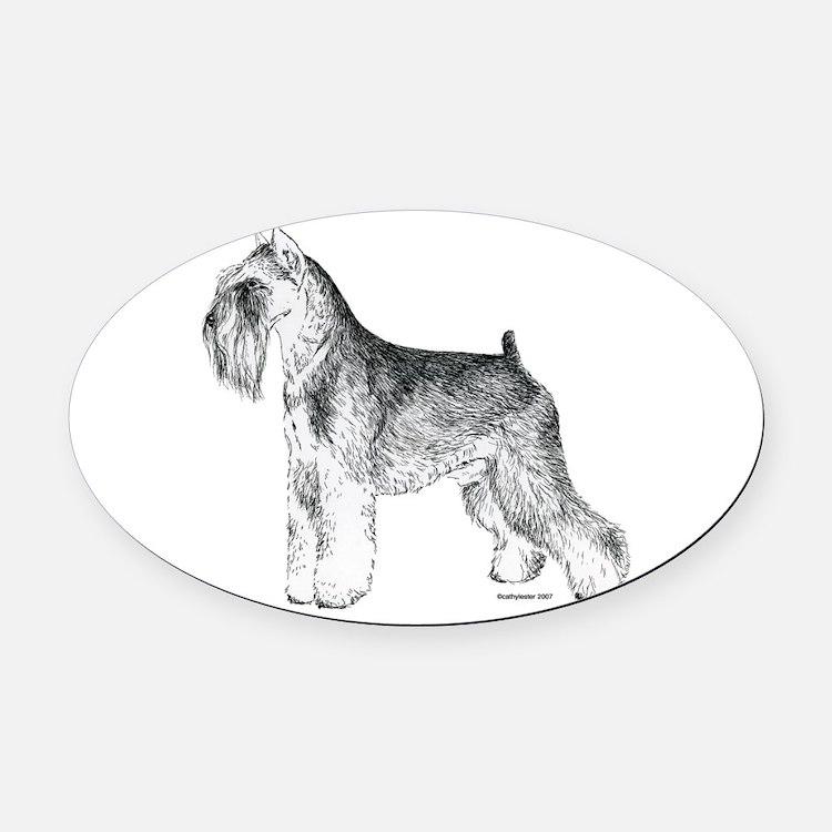 Miniature_Schnauser_Terrier020.png Oval Car Magnet