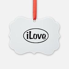 iLove Oval Ornament