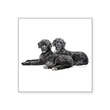 "Portuguese Water Dogs.png Square Sticker 3"" x 3"""