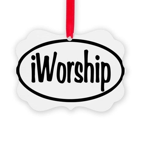 iWorship Oval Picture Ornament