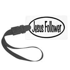 Jesus Follower Oval Luggage Tag