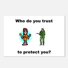 Who do you trust to protect you Postcards (Package