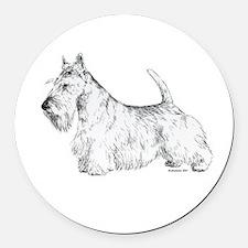 Scottish_Terrier.png Round Car Magnet