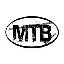MTB Oval Oval Car Magnet