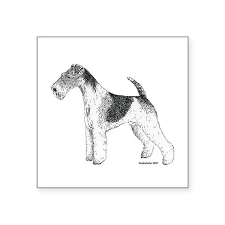 """Wire_Terrier.png Square Sticker 3"""" x 3"""""""