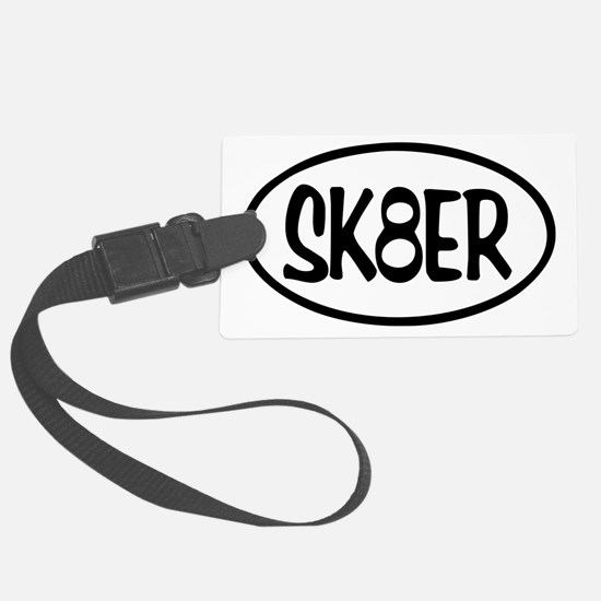 SK8ER Oval Luggage Tag