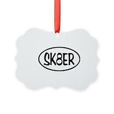 SK8ER Oval Ornament