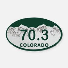 70.3 Colo License Plate Oval Car Magnet