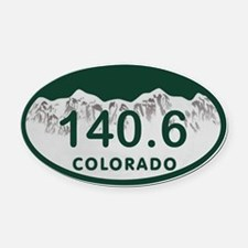 140.6 Colo License Plate Oval Car Magnet