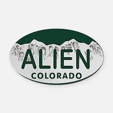 Alien Colo License Plate Oval Car Magnet