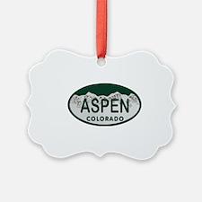 Aspen Colo License Plate Ornament