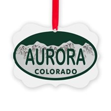 Aurora Colo License Plate Ornament