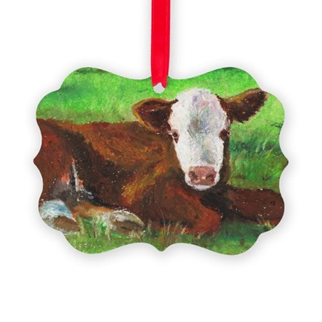calf copy.jpg Picture Ornament