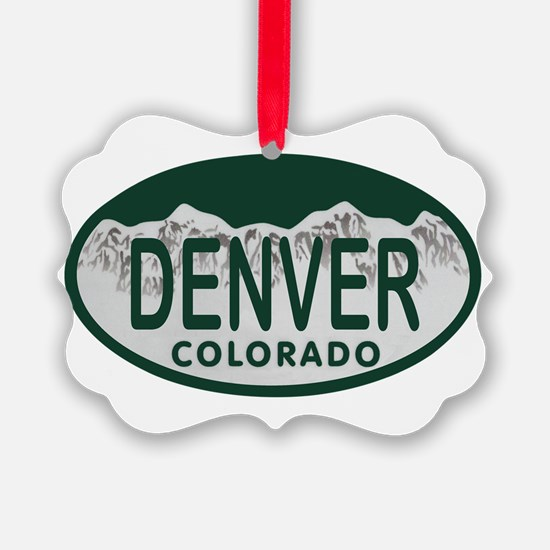 Denver Colo License Plate Ornament