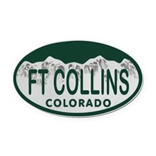 Ft Collins Colo License Plate Oval Car Magnet