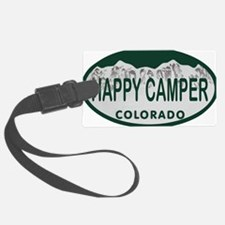 Happy Camper Colo License Plate Luggage Tag