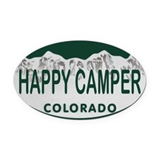 Happy Camper Colo License Plate Oval Car Magnet