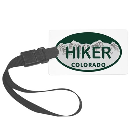 Hiker Colo License Plate Large Luggage Tag