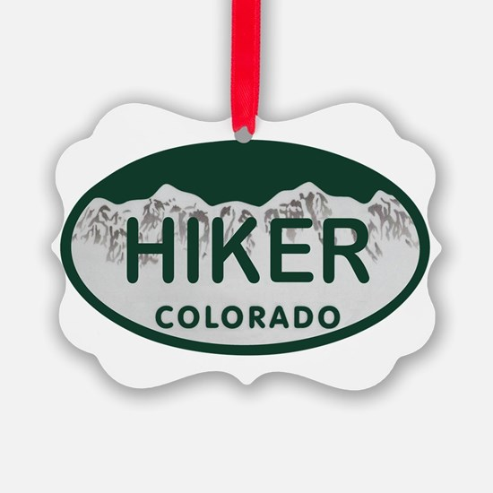 Hiker Colo License Plate Ornament