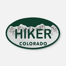 Hiker Colo License Plate Oval Car Magnet