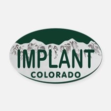 Implant Colo License Plate Oval Car Magnet