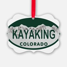 Kayaking Colo License Plate Ornament