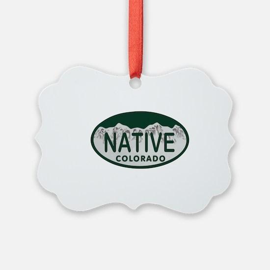 Native Colo License Plate Ornament
