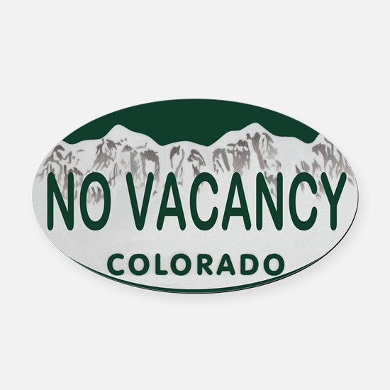 No Vacancy Colo License Plate Oval Car Magnet