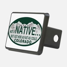 Not a Native Colo License Plate Hitch Cover