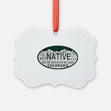 Not a Native Colo License Plate Ornament