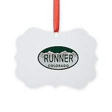 Runner Colo License Plate Ornament