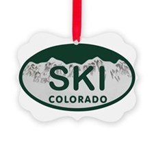 Ski Colo License Plate Ornament